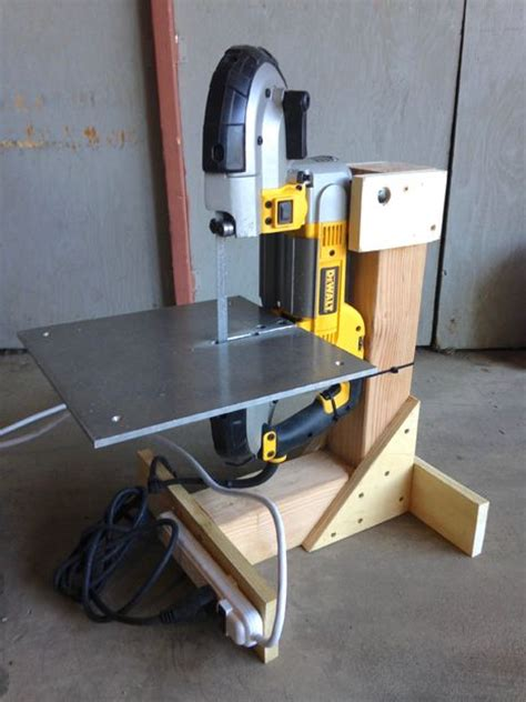 harbor freight portaband table bandsaw stand from scrap lumber 4 steps with pictures