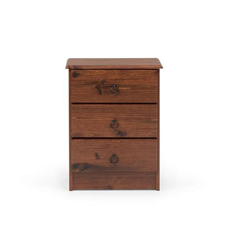 Kingston 3 Drawer Bedside Cabinet | Debonaire Furniture ...