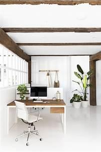This, Fresh, Office, Design, Brings, Minimalism, U0026, Boho, Together, Perfectly