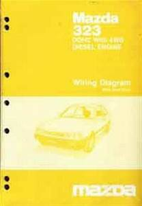 Mazda 323 Bf 4wd 06  1986 Factory Wiring Diagram Manual