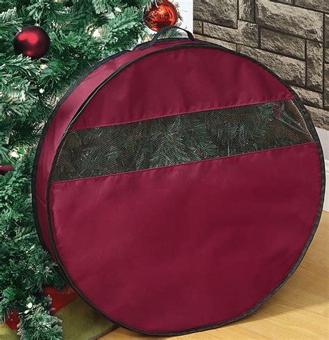 24 inch wreath storage bag in holiday wreath storage