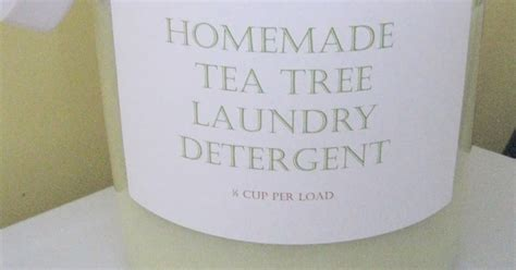 sweet cup  grace homemade tea tree laundry detergent