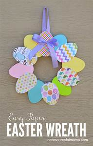 Easy Paper Easter Wreath | Easter crafts, Easter and Wreaths