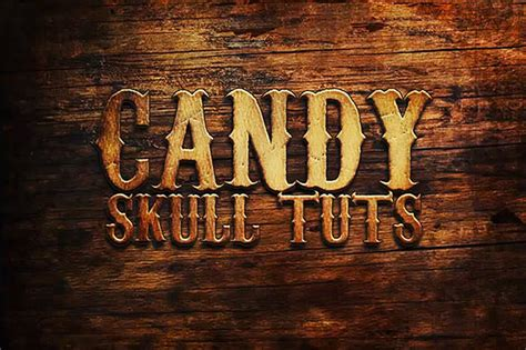 western style  wood text effect  photoshop