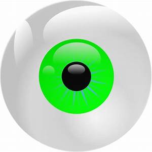 Eyeball Green Clip Art at Clker.com - vector clip art ...