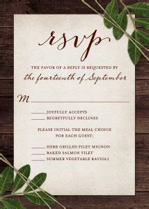 Wedding Rsvp Wording And Card Etiquette