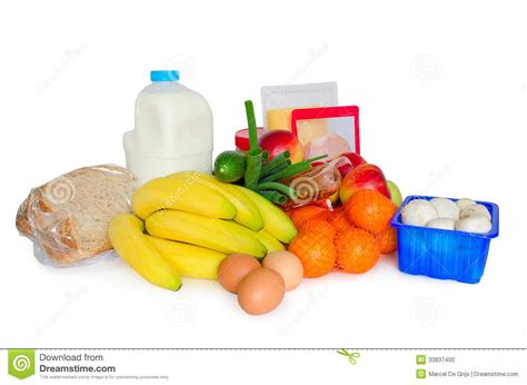 groceries or basic food package stock photo image 33837400