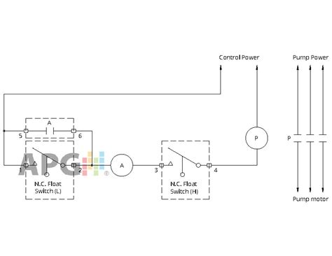 Water Wiring Diagram 230v by Float Switch Installation Wiring Diagrams Apg