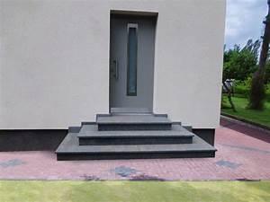 Fertighaus Aus Beton : treppe aussen haus eingang podest naturstein granit beton stufe setz schwarz haust r ~ Sanjose-hotels-ca.com Haus und Dekorationen