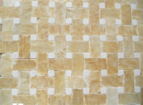 mosaic tile backsplash polished honey onyx
