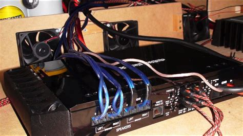 rockford  ad ch amp ga wire cooling fans install