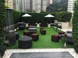 Newly renovated lawn area - The Upper House Hong Kong
