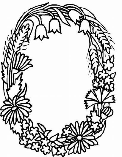 Coloring Alphabet Pages Flower Flowers Letter Printable