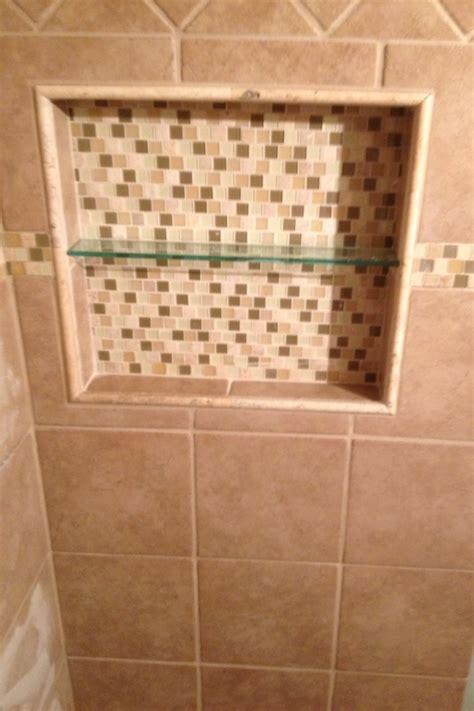 recessed built in tiled shower shelf s bath reno