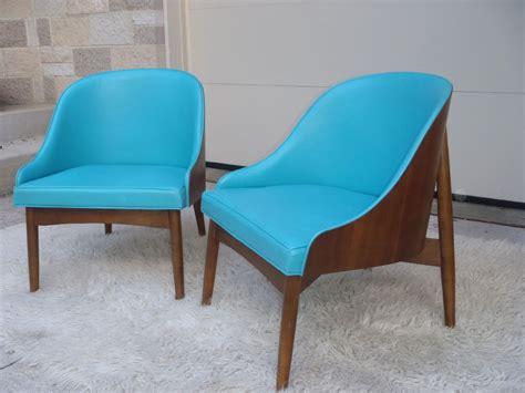 mid century modern aqua blue kodawood pair of vintage