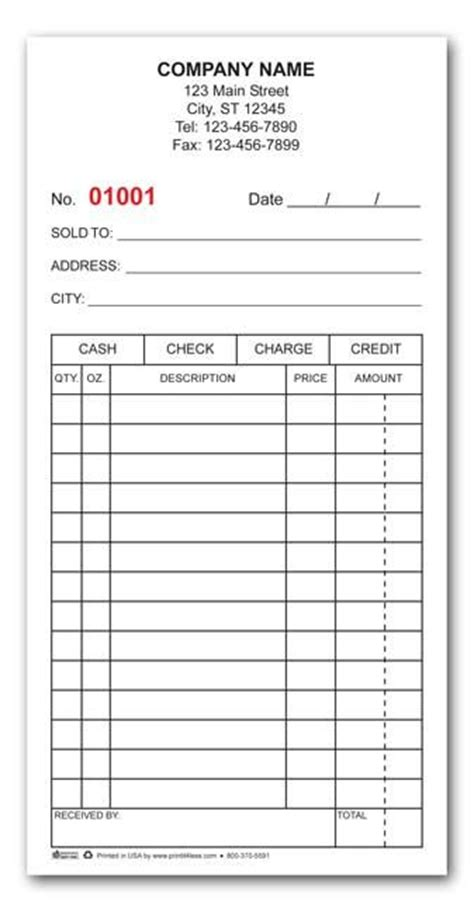 custom cash receipt invoice template word printable