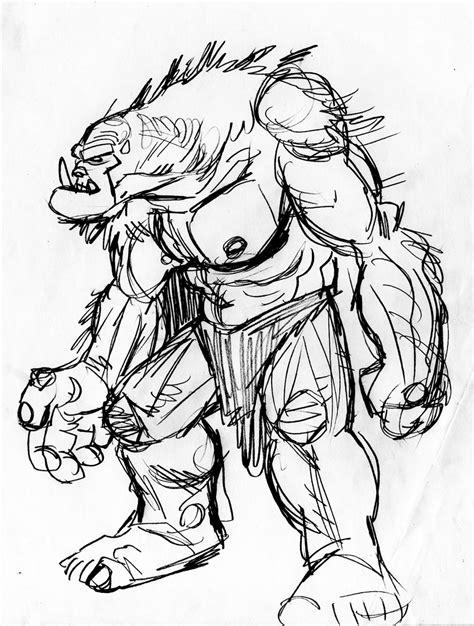 Ogre Realistic Drawing   Drawing Skill