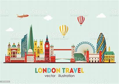 London Illustration Vector Skyline Abstract England Cityscape