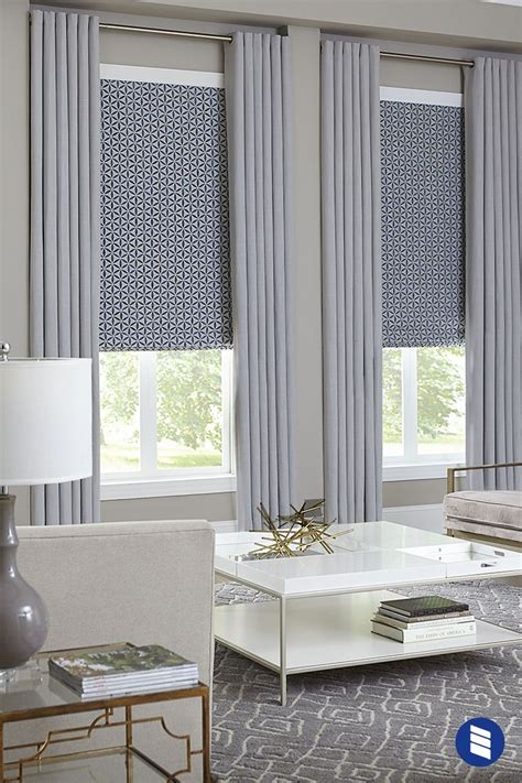 Curtain Shades by Windows Get A Finished Look With Layered Shades And
