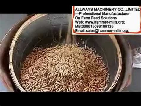 domestic animal feed pellet machine awf120 pig cow rabbit feed mill youtube