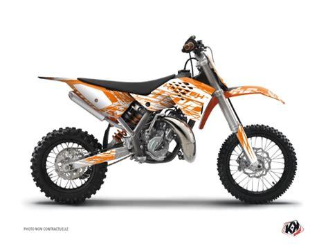 kit d 233 co moto cross eraser ktm 65 sx orange kutvek kit graphik