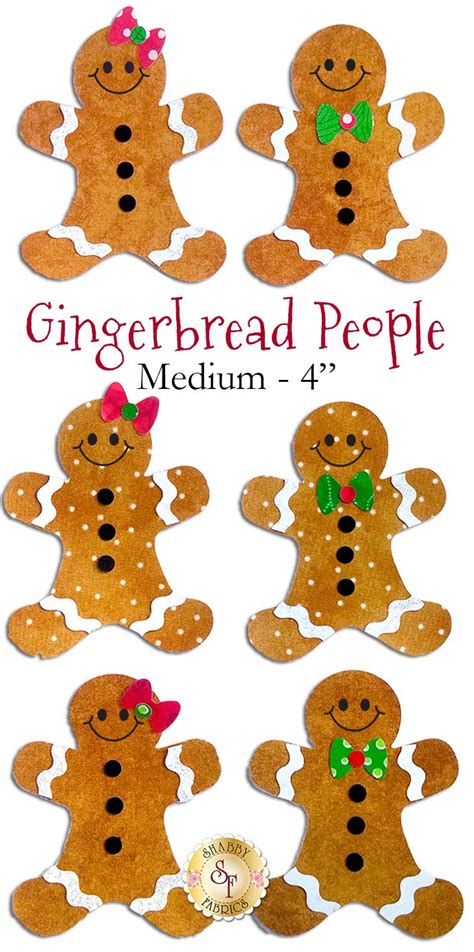 shabby fabrics gingerbread laser cut gingerbread people 4 sizes available