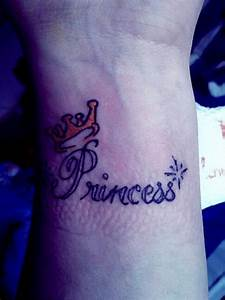 Princess tattoo with tiara in purple | Time for Tattoo ...