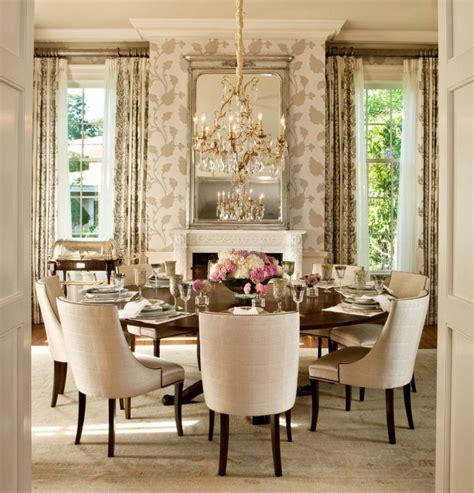 moroccan upholstered wing furniture vintage dining room wallpaper interior