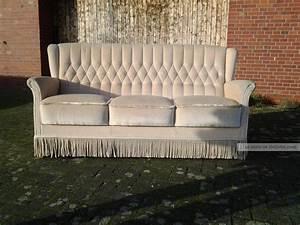 Sofa 50er Jahre : chesterfield chair couch sofa 50er jahre mit fransen samtvelours beige ~ Markanthonyermac.com Haus und Dekorationen