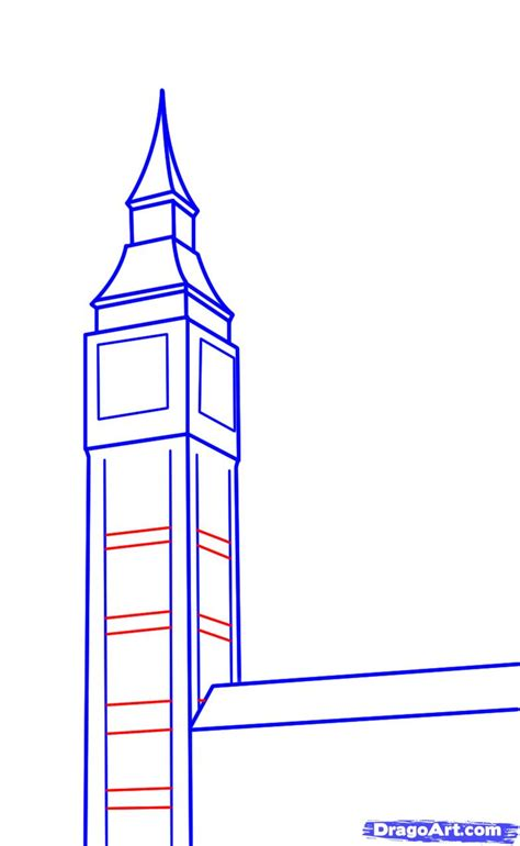 How To Draw Big Ben, Step By Step, Famous Places