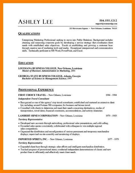 resume templates for microsoft word microsoft word resume sle resume format 24448
