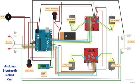 smartphone controlled arduino wd robot car hacksterio