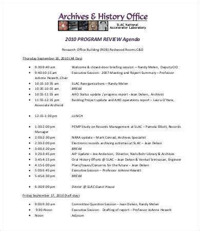Program Agenda Template - 8+ Free Word, PDF Documents ...