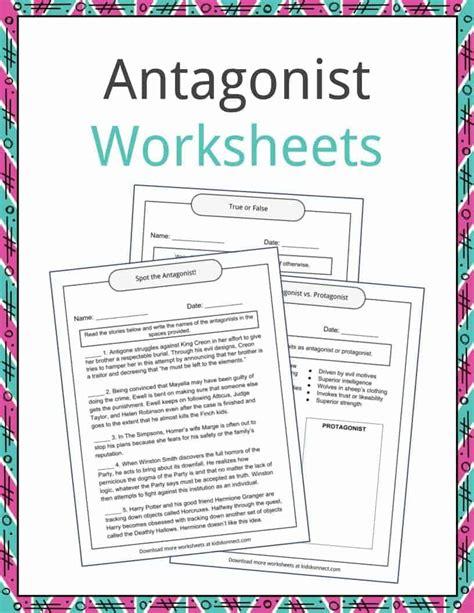 antagonist exles definition and worksheets kidskonnect
