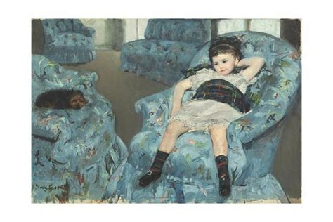 Little Girl In A Blue Armchair, 1878 Giclee Print By Mary