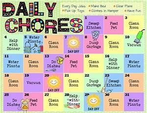 Bloggerific Chore Charts For Kids