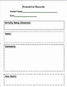 11 best images about classroom documentation on pinterest With anecdotal assessment template