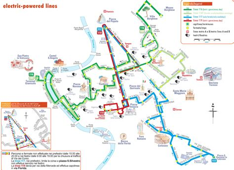 map  rome bus routes map  trolleybus lines  rome