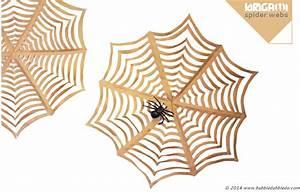 Halloween Craft: GIANT Kirigami Spider Webs - Babble Dabble Do
