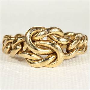 victorian love knot wedding band ring in 18k gold size 7 With love knot wedding ring