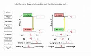 31 Label The Energy Diagrams Below And Complete The
