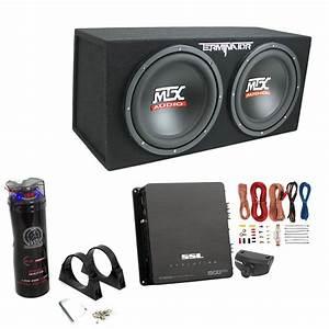 Mtx Tne212d 12 U0026quot  1200w Dual Loaded Subwoofer Box   1500w