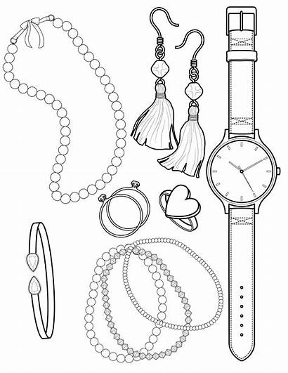Coloring Pages Jewelry Sheets Necklace Twofer Baubles