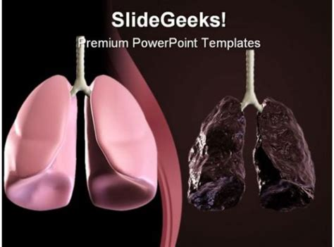 healthy  bad lung medical powerpoint backgrounds