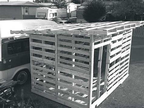 build  garden shed   pallet wood farm