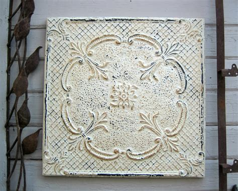 framed 24x24 antique tin ceiling tile circa