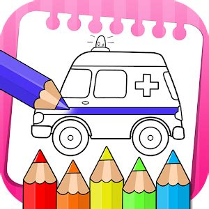 vehicles coloring book drawing book kids game  pc