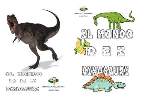 schede didattiche sui dinosauri libro da costruire