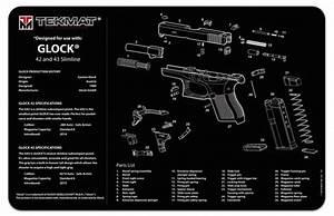 Tekmat Glock 42-43 Svart Vapenv U00e5rdsmatta