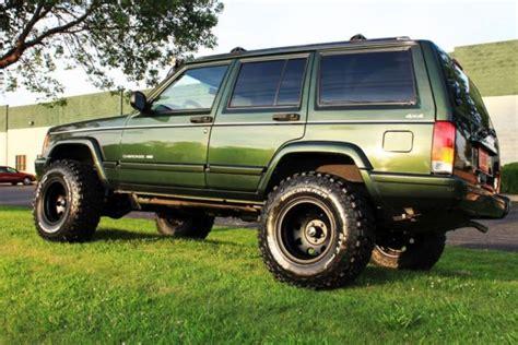 green jeep cherokee lifted 1j4fj68s5wl156729 1998 jeep cherokee limited xj 70k low